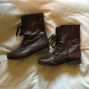 Steve Madden | Troopa Combat Boots | Deep Brown